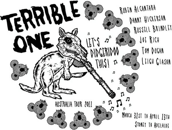 Terrible One Australia Tour Flyer