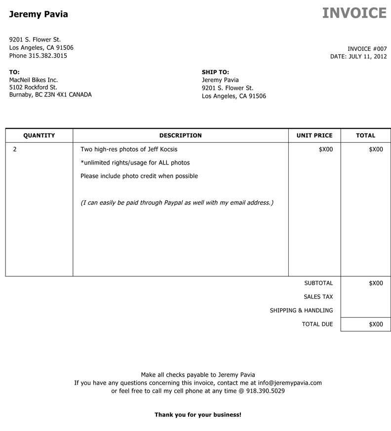 Sample Invoice Sample Invoice  Sample Invoice Templates  Free