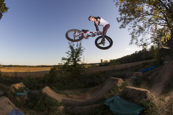 Glenn Salyers tailwhip at Ball family compound in Coldwater , Michigan