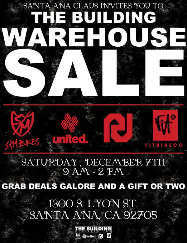 The Building Warehouse Sale