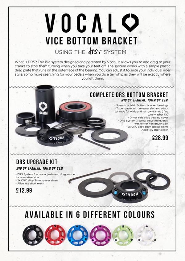 Black Vocal BMX Vice Spanish DRS Upgrade Black 19mm