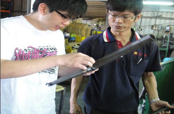 Nick Huang at Taiwan factory