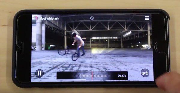 Flatland Tricky App BMX video demonstration