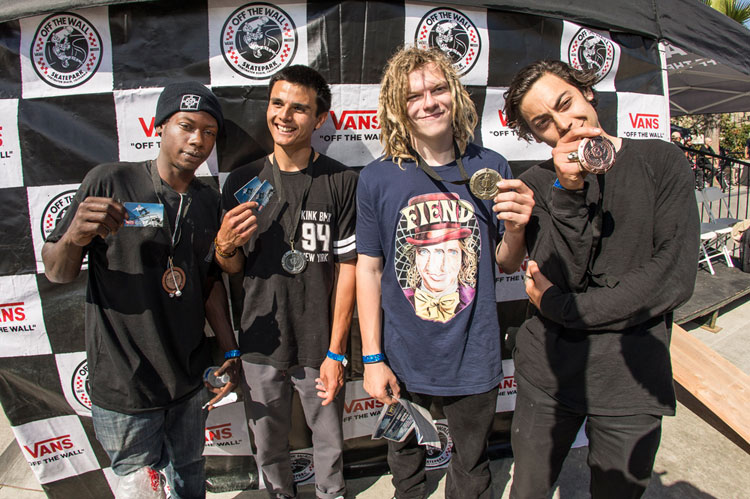 Vans BMX Street Invitational AM Podium