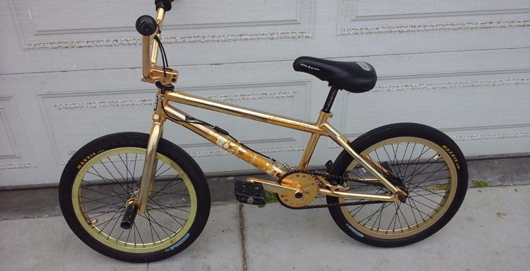 Dave Mirra 24 Karat gold BMX bike