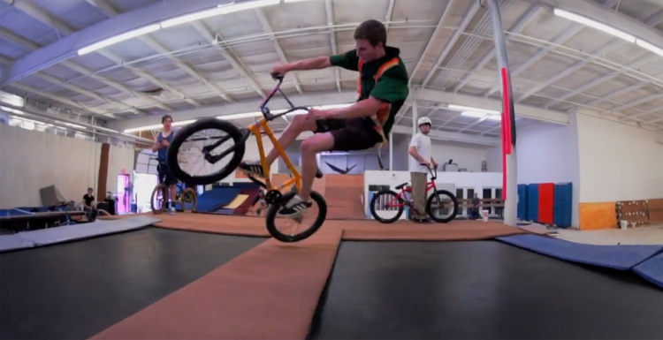 Going Crazy In a Gymnasium Part 3 BMX video
