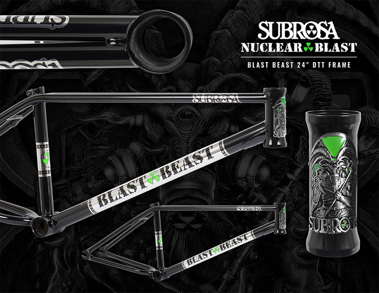 Subrosa Brand Nuclear Blast - Blast Beast Collaboration BMX