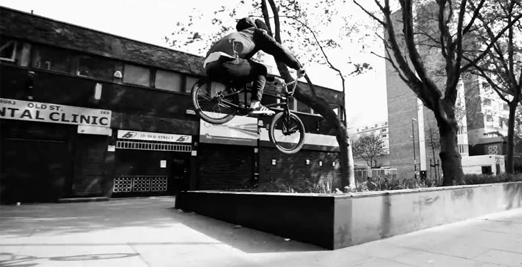 Tom Sanders In London BMX video James Cox