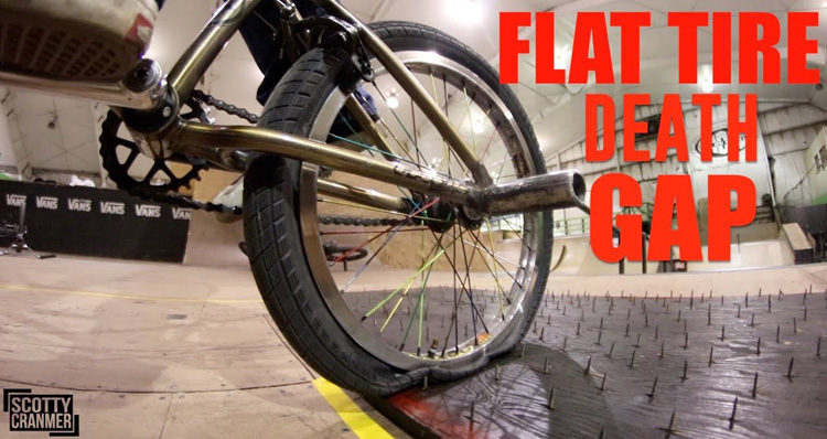 Flat Tire Death Gap 4 BMX video