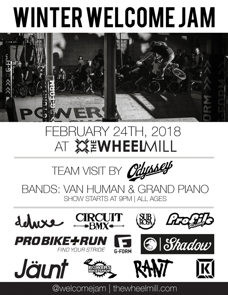 Winter Welcome Jam 2018 The Wheel Mill BMX