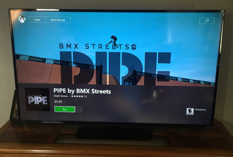BMX Streets Pipe Game XBox One