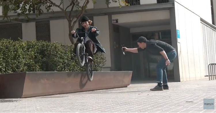 Cult BMX Peoples Store Louis ZImmer in Barcelona BMX video