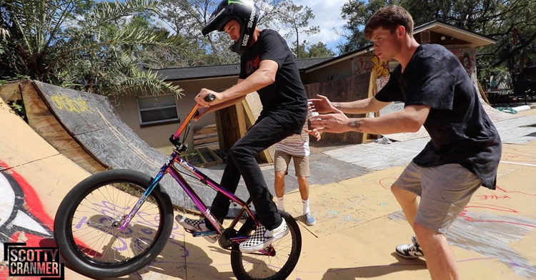 Scotty Cranmer Rides Trey Jones' Backyard