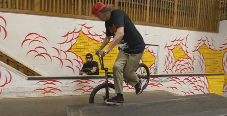 Alexis Desolneux at Skatepark of Tampa BMX video