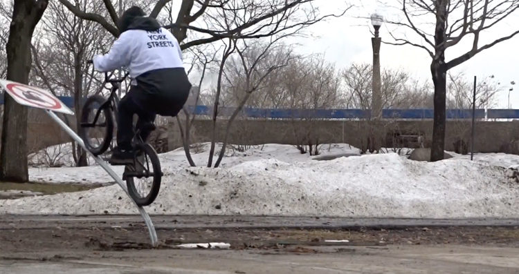 Sebastien Babineau La Cribs BMX video