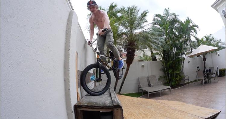 Madera BMX Backyard Patio Ramp Session BMX video