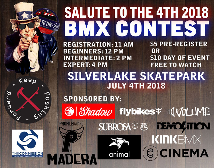 Salute to the 4th 2018 BMX contest