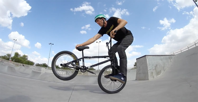 Adam Banton 100F BMX video