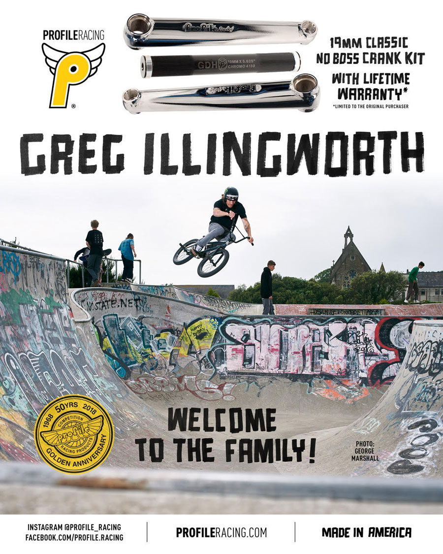 Greg Illingworth Profile Racing BMX
