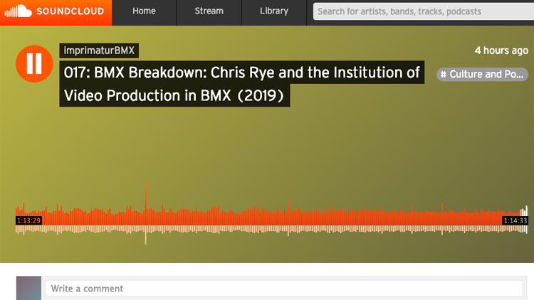 Imprimatur BMX Chris Rye Props BMX