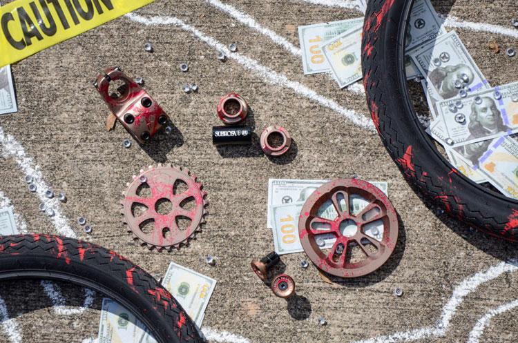 Subrosa Brand Blood Splatter Colorway BMX