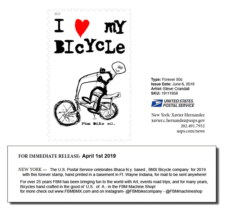 FBM BMX Postage Stamp April Fools