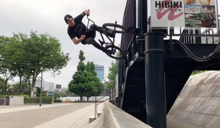 Johnny Delbalso In Tokyo BMX video