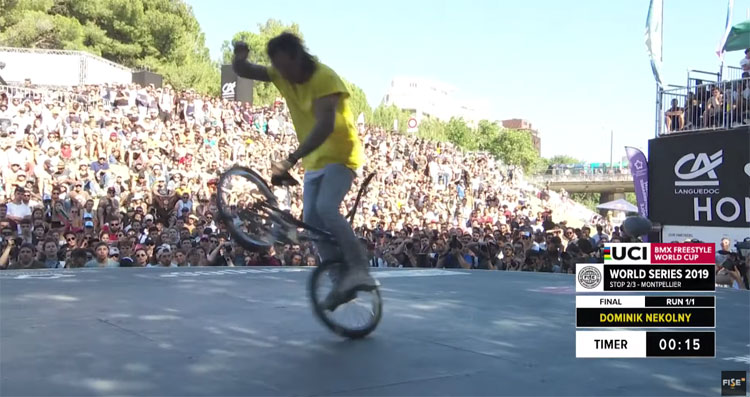 Dominik Nekolny FISE Montpellier Flatland BMX