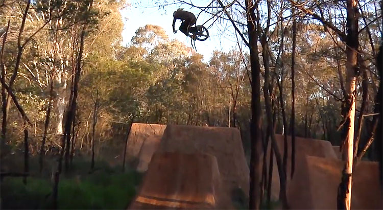 Russell Brindley Trail Hesh Back Bone BMX video