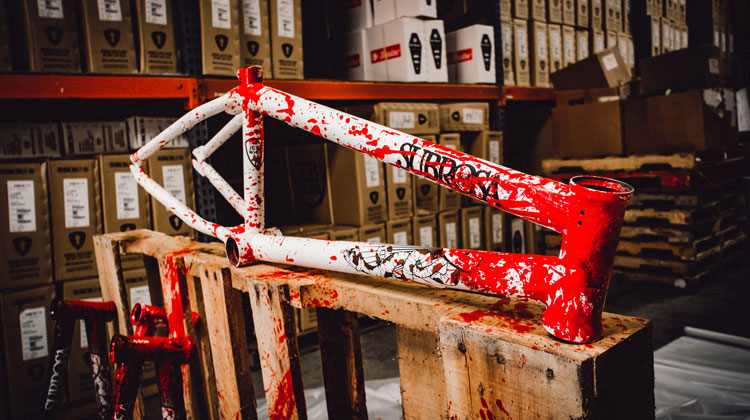 Subrosa Brand Blood Splattered Wild Child BMX Frame Trey Jones