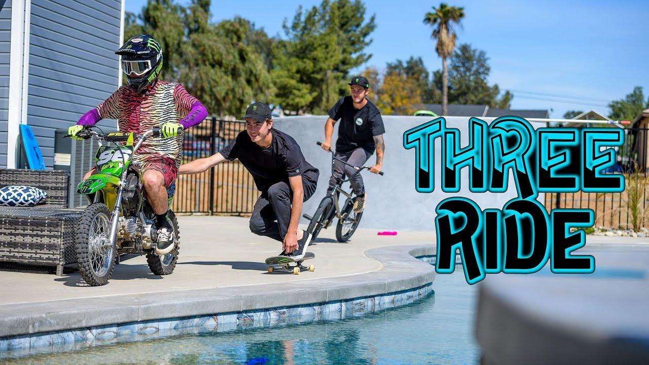 Monster Energy Three Ride Pat Casey BMX Skate Moto