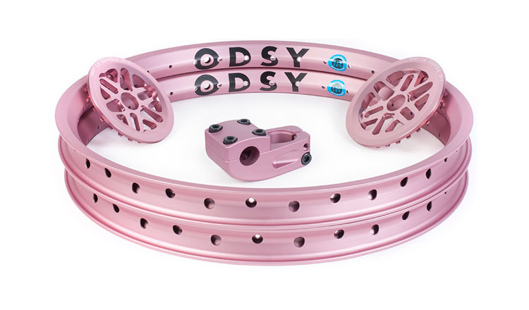 Odyssey BMX Anodized Pale Pink BMX parts