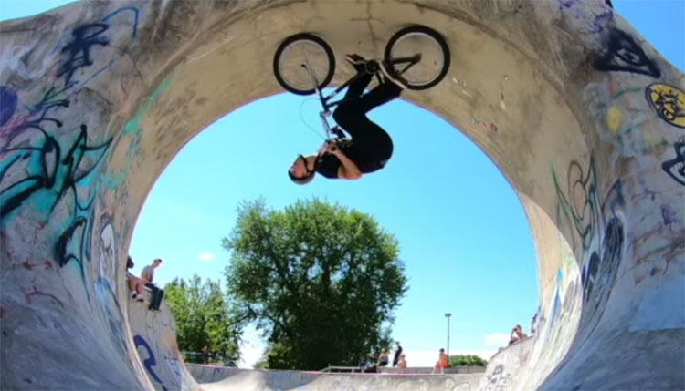 Bone Deth BMX Dean Dickinson Too Fast For Food
