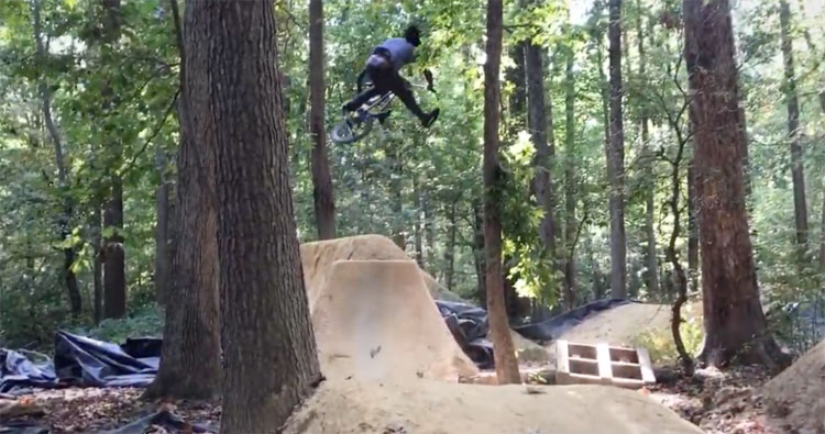 Brad Simms BMX trails video