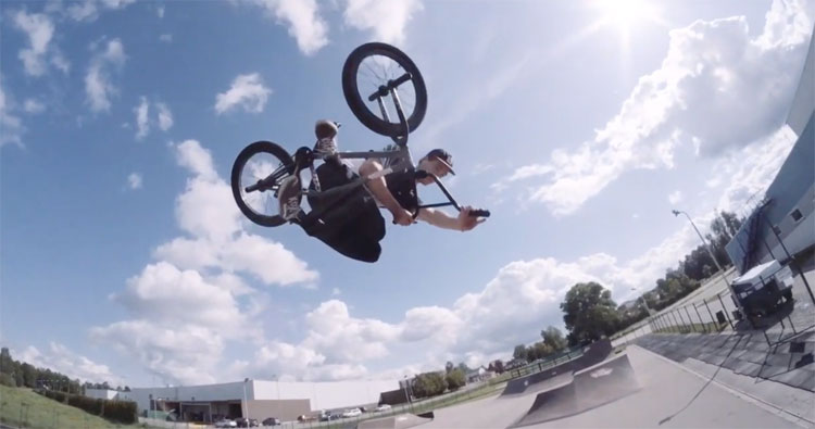 Janis Bauska Local Park BMX Video