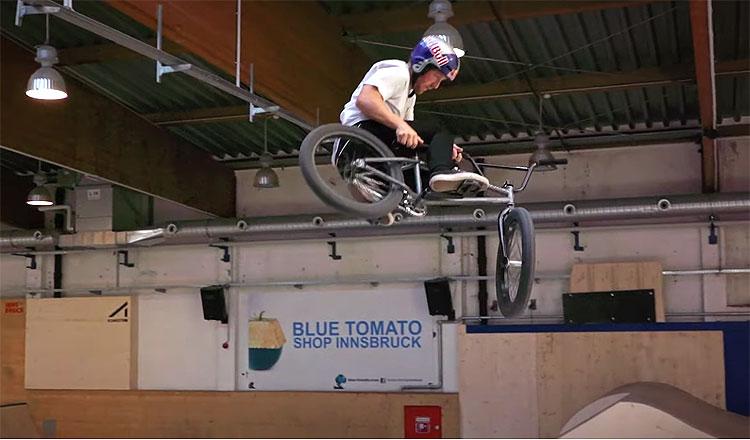 Sergio Layos Skatehalle Innsbruck BMX video