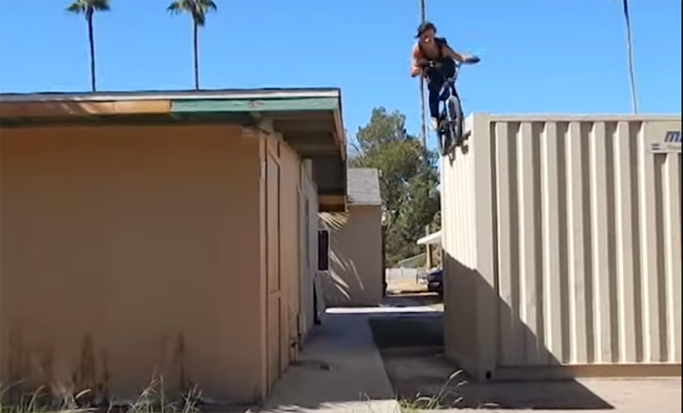 Bone Deth BMX Josh Delarosa Too Fast For Food BMX video