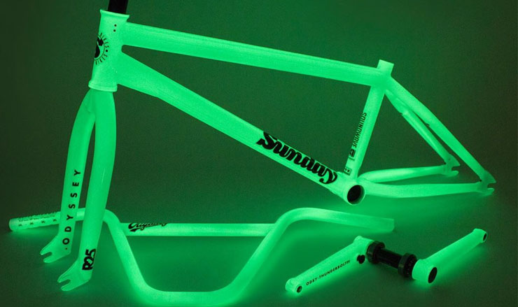 Odyssey BMX Sunday Bikes Glow In the Dark Kit BMX