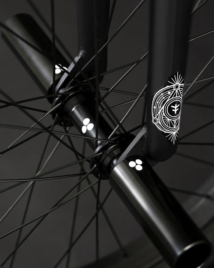 BMX bike front wheel