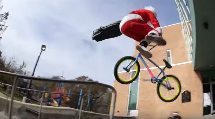 Rad Santa BMX video Sunday Bikes