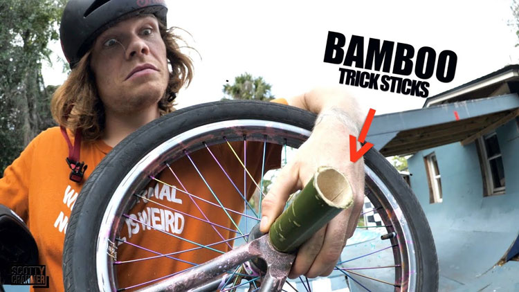 Bamboo BMX peg