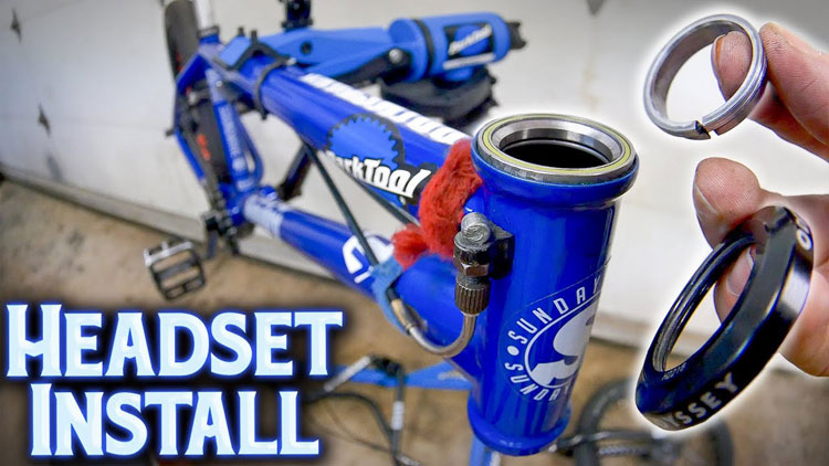 how to install BMX headset for Beginners video