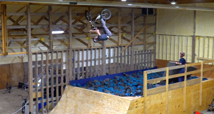 Nowear BMX Compound Has A Foam Pit BMX