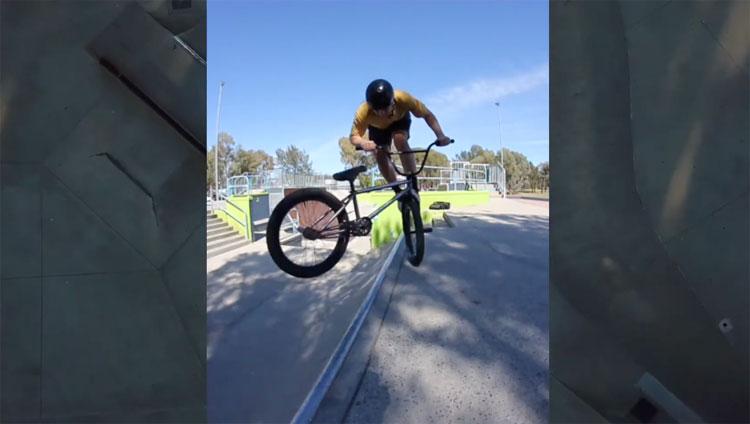 Troy Harradine 2020 January BMX video