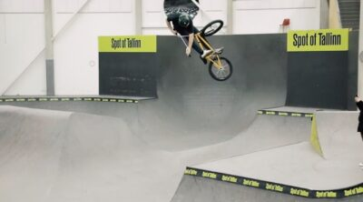 Tom van den Bogaardd Levi Weidmann BMX video Skatepark of Tallinn