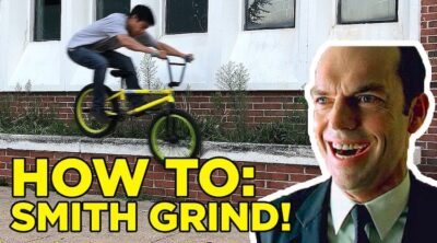 How To Smith Grind BMX bike Dustin Lee