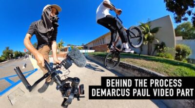 Inside Look At Filming A Video Part BMX Demarcus Paul