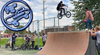 2020 9th street diy skatepark bmx jam video
