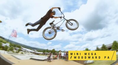 Kevin Robinson JR and Jake rukowitz Woodward East BMX video