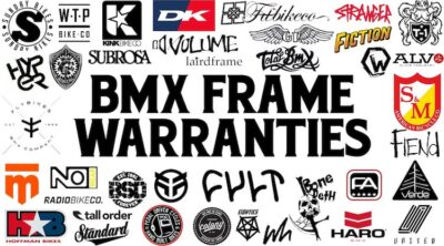BMX Frame Warranties